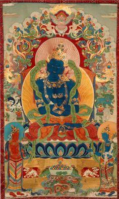 Tibetan Buddhist Thangka of Vajradhara