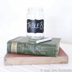 Vinyl chalkboard labels for jam jars