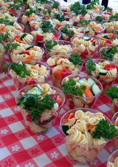 Pasta in a cup! Great ideas and pictures! Photo 3 of 30 (Camping Ideas Food) Wedding Buffet Food Party Buffet Food Set Up Food Platters Christmas Brunch Brunch Party Food Presentation Appetizers For Party Party Snacks California's main coast boasts a wide Snacks Für Party, Appetizers For Party, Appetizer Recipes, Bridal Shower Appetizers, Bridal Shower Foods, Party Trays, Party Buffet, Bridal Shower Sandwiches, Individual Appetizers