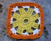 Sonnen Granny Square-Free crochey pattern from Rhonda Rowley. Nice open design. Would be good for a lightweight afghan.
