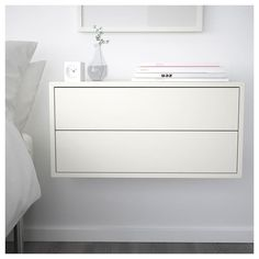 Could make a long walk of storage/desk with EKET Cabinet with 2 drawers, white - white - IKEA Ikea Eket, Painted Drawers, Style Deco, Drawer Fronts, New Room, New Furniture, Luxury Furniture, Shelving