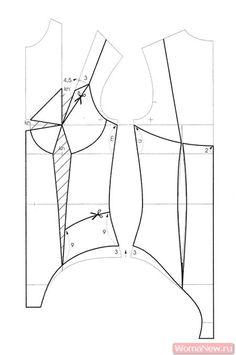 Motif Corset, Corset Pattern, Doll Clothes Patterns, Pdf Sewing Patterns, Clothing Patterns, Lingerie Patterns, Sewing Lingerie, Techniques Couture, Sewing Techniques