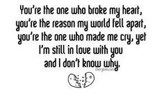 Broke to her you my letter heart A letter
