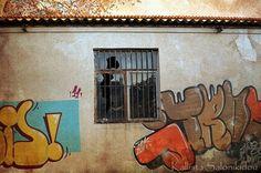 Window Photography, graffiti on an abandoned building | Kallista Salonikidou