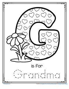 I love you grandma coloring page PreK Pinterest