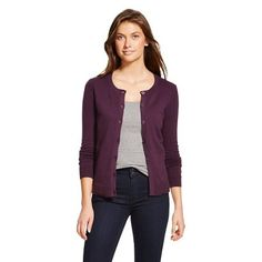 This color cardigan or a burgundy or dark grey color would be lovely  Women's Favorite Cardigan - Merona™ - Berry Purple