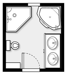 Small powder room floor plans 6x9 size small for 9x11 bathroom ideas