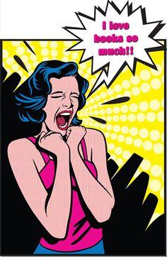 Fitness Motivation Pop Art - I Love Squats. I Love Books, Good Books, Books To Read, My Books, Amazing Books, Free Books, Bd Pop Art, Pop Art Vintage, Vintage Books