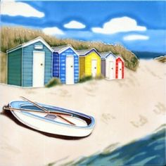 Beach Huts 8x8 By Salcombe Ceramics