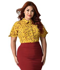 Unique Vintage Plus Size Mustard Yellow & Red Floral Colv... https://www.amazon.com/dp/B076HCWSVZ/ref=cm_sw_r_pi_dp_U_x_vzhNAbMBT9EXB