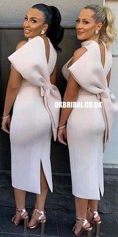 High Neck Satin Sleeveless Tea-Length Honest Bridesmaid Dress, FC2596 #bridesmaiddresses #bridesmaiddress #bridesmaids #dressesformaidofhonor #weddingparty #2021bridesmaiddresses #2021wedding Cheap Bridesmaid Dresses Online, Simple Bridesmaid Dresses, Wedding Dresses, Bridesmaid Gowns, African Bridesmaid Dresses, Gown Wedding, African Fashion Dresses, African Dress, Dress Outfits