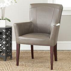 Safavieh Dale Leather Arm Chair - Clay - MCR4710B