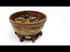 Reciclaje: Cuenco decorativo para perfumar. Recycling: decorative bowl to perfume. - YouTube
