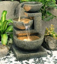 Indoor Fountain or Outdoor Fountain with Pump and Light