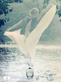 #adv #profumi #acqua #acquadigioia #armani #fata #fiume #azzurro  martinafantin.blogspot.com