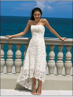 Sleeveless Short Lace Wedding Dresses  $229.00