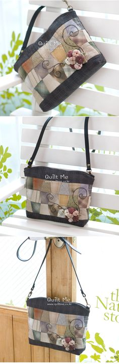Patchwork Bags, Quilted Bag, Diy Bags Patterns, Japanese Bag, Clutch Bags, Handmade Bags, Applique, Quilts, Purses
