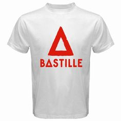 New BASTILLE English Rock Band Logo Men's White T-Shirt Size S M L XL 2XL T Shits Printing Short Sleeve Casual O-Neck Cotton