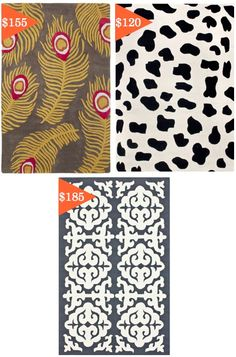 21 HUGE rugs under 200 bucks :) Awesome. Worth pinning for later rug buying times.