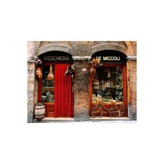 Bicycle Parked Outside Historic Food Store, Siena, Tuscany, Italy Wall... ($14) ❤ liked on Polyvore featuring home, home decor, wall art, bicycle home decor, outdoor wall art, bike home decor, outside wall art and bicycle wall art