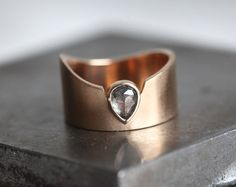 Hey, I found this really awesome Etsy listing at https://www.etsy.com/au/listing/265812295/rose-cut-diamond-band-grey-diamond-ring