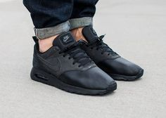 Nike Air Max Tavas Leather Triple Black (1)