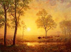 The Athenaeum - Sunset on the Mountain (Albert Bierstadt - )