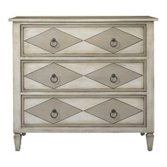 Windrose Hall Chest with diamond pattern by #bassettfurniture