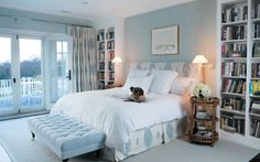 a room in Katie Couric's house in the Hamptons.... a comfortable bed, plenty of good books, a nice view, and a dog!