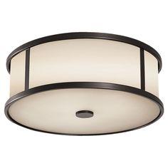 Dakota Flushmount by Feiss | Lumens.com - master bath ceiling light option