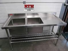 Sink-Unit-RTH-Double-Bowl-Stainless-Steel-Single-RH-Drainer-1500mm-350-V