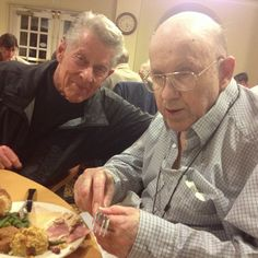 Early thanksgiving shindig with my Uncle Chuck and my family at his assisted living center. This in my uncle on the right and my Dad on the left. :)