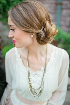 Low Sideswept Bun - Timeless Bridal Hair