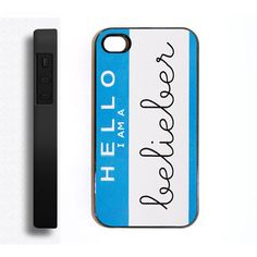 Apple iPhone 4 4s 4G Hello I'm A Belieber Justin Bieber Case Cover... ($9.99) ❤ liked on Polyvore