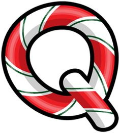 Letter Q candy cane striped. valentina_candyland_alpha_5_q.png
