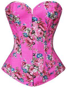 Floral Fantasy Pink Corset M1343