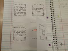 Awesome ideas for Math Journals