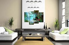 Amazon.com: Two Peacocks Walk In Forest Beautiful Wall Art Painting The Picture Print On Canvas Animal Pictures For Home Decor Decoration Gift: Posters & Prints