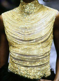 Detail of Alexander McQueen Fall 'Eshu'. Colorful Fashion, Love Fashion, High Fashion, Vintage Fashion, Fashion Outfits, Ladies Fashion, Style Fashion, Couture Fashion, Runway Fashion
