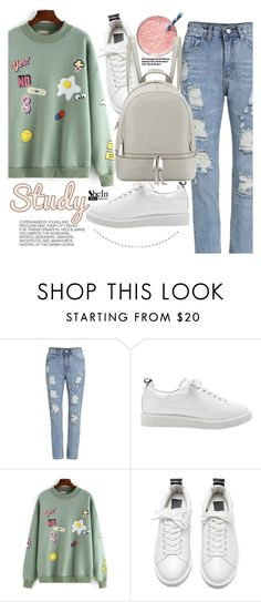 """""""School day"""" by pokadoll ❤ liked on Polyvore featuring Hedi Slimane, MICHAEL Michael Kors, Sheinside and shein"""