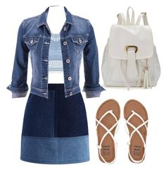 A fashion look from May 2016 featuring denim jacket, color block skirts and white strap sandals. Browse and shop related looks. Lipsy, Billabong, Strap Sandals, Fashion Looks, Denim, Skirts, Polyvore, Jackets, Shopping
