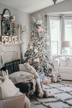 Pink Black and White Floral Christmas Decor with Rugs USA's Dolcina CN01 Embossed Frayed Diamond Trellis Rug!