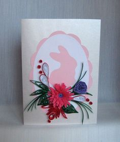 Quilling M handmade crafts and hobbies: Quilling Easter Cards (3) - Felicitari de Paste