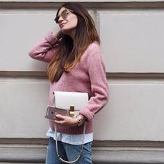 Boutique Belgique, pink, rosa, lena terlutter, celine, box bag, levis, denim, street style, casual