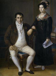 1820 Rafael Tegeo Díaz - Don Pedro Benítez and his daughter María de la Cruz