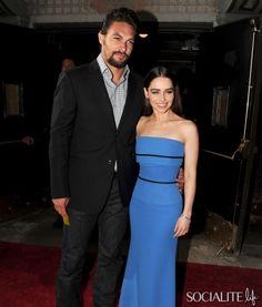 Emilia Clarke Stuns, Jason Momoa Smolders At 'Game Of Thrones' Season 3 Premiere Party