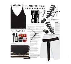 """Perfect Pinstripes"" by amimcqueen ❤ liked on Polyvore featuring Dolce&Gabbana, Zara, MAKE UP FOR EVER, Opening Ceremony, Bobbi Brown Cosmetics, Whiteley, Kate Spade, Miss Selfridge, Aesop and Gucci"