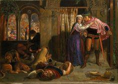 Holman hunt . Eve of St Agnes