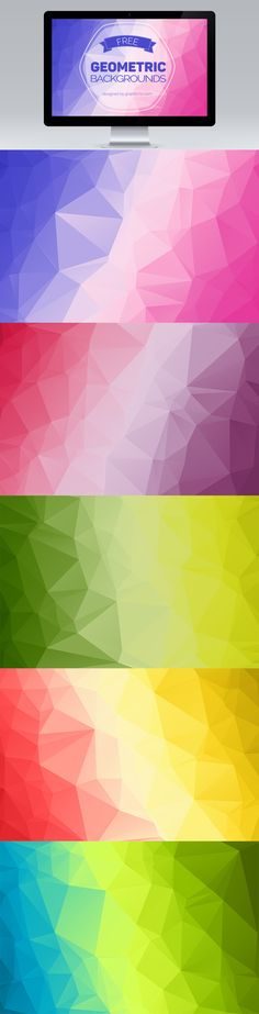 Free Colorful Geometric Wallpaper: Geometric Colorful Abstract Background Vector