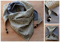 Tutorial: The Liberty scarf – Les P'tites Mèches Coin Couture, Baby Couture, Couture Sewing, Couture Accessories, Couture Tops, Sewing Accessories, Liberty Scarf, Liberty Fabric, Sewing Clothes